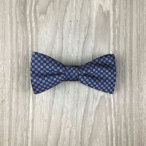 Stafford Blue Patterned Bow Tie